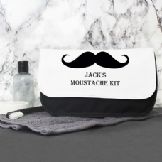 Moustache Mens Wash Bag